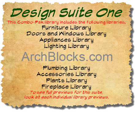 ArchBlocks Design Suite One CAD Blocks