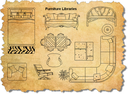 AutoCAD Furniture Blocks Library