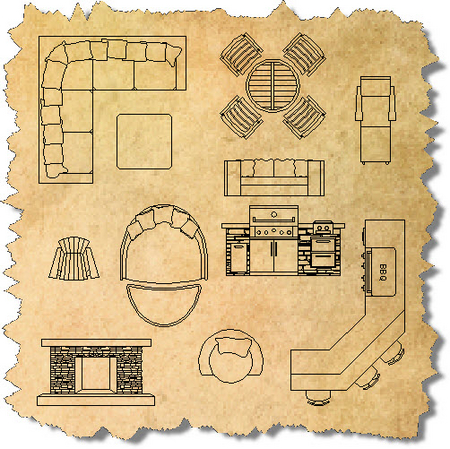 AutoCAD Blocks for Outdoor Living | Outdoor Furniture CAD Symbols