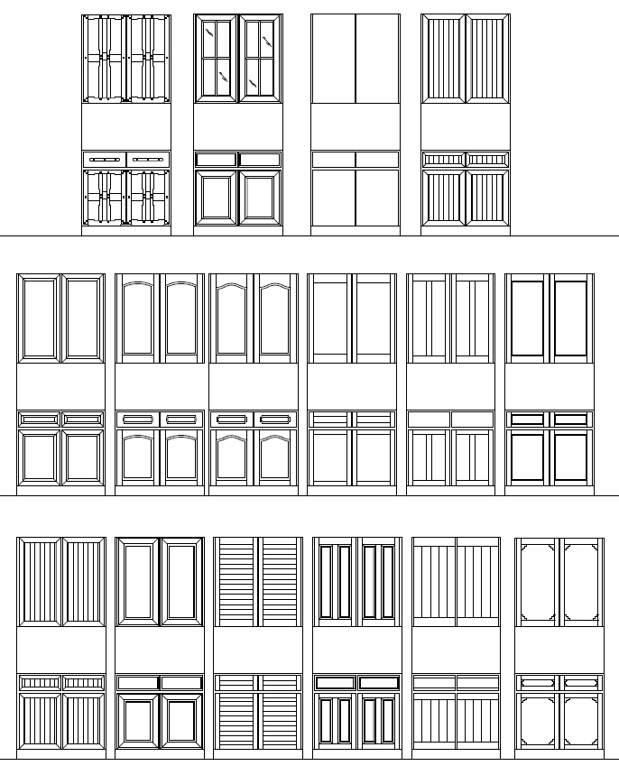 Autocad Doors Blocks Library Exterior Door Autocad