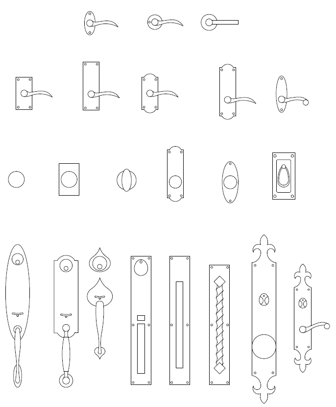 ArchBlocks AutoCAD Door Hardware Block Symbols