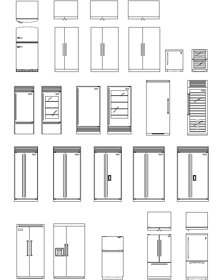 CAD Appliance Blocks | AutoCAD Appliance Symbols | Kitchen CAD
