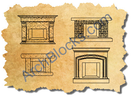 AutoCAD Outdoor Fireplace Symbols