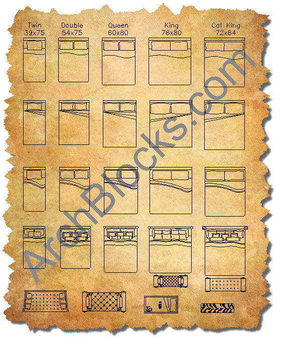 CAD Furniture Blocks AutoCAD Furniture Symbols CAD Blocks Of