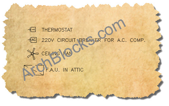 CAD Electrical Symbols for Climate Control