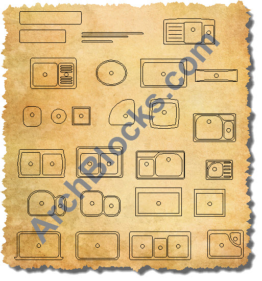AutoCAD Kitchen Sink Block Symbols