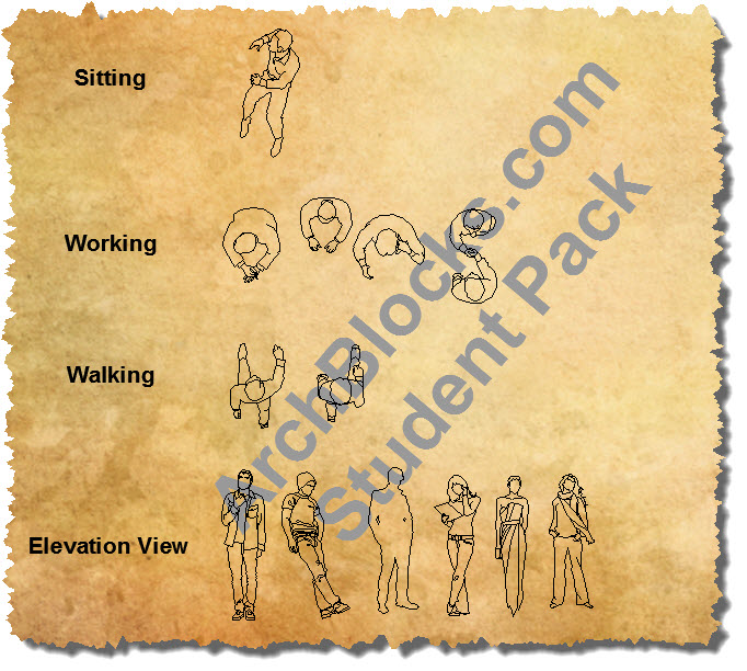 CAD People Symbols Student Software