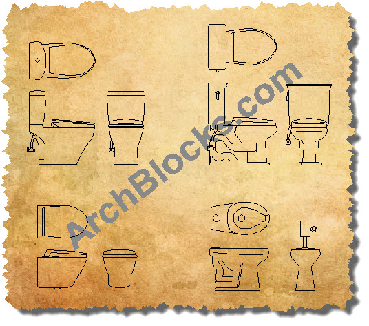 AutoCAD Toilet Blocks 02