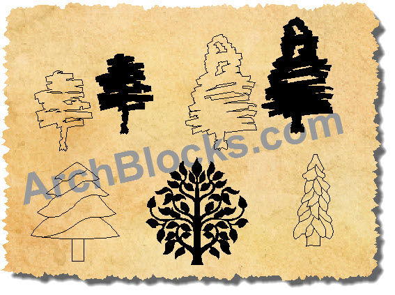 Tree Drawings CAD Styles