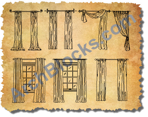 CAD Drawings Window Treatments