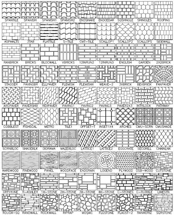 Roof Tile Hatch Patterns AutoCAD