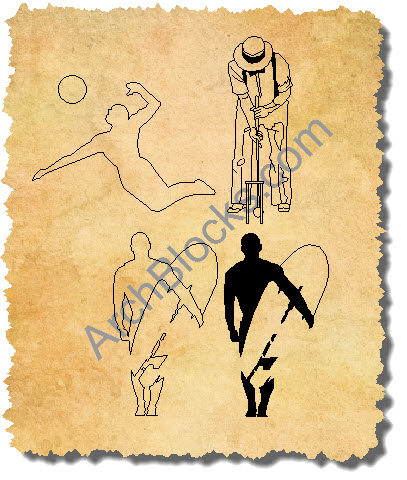 CAD Symbols People Sports