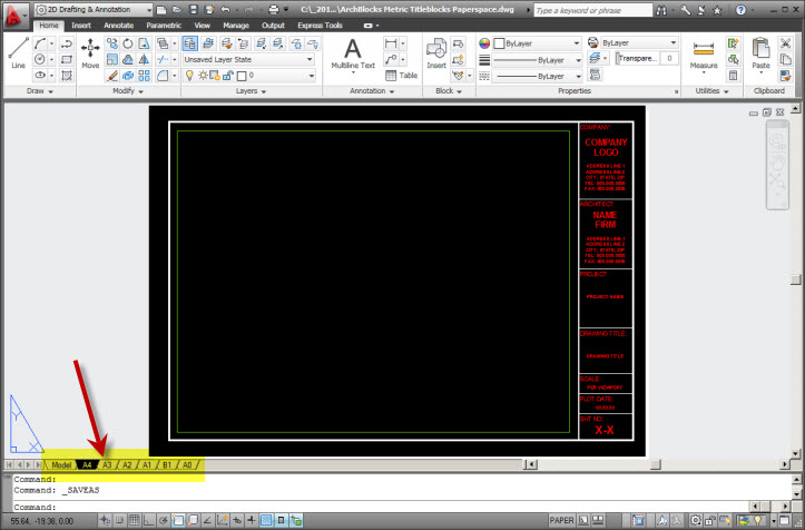 AutoCAD Paperspace Layouts-01