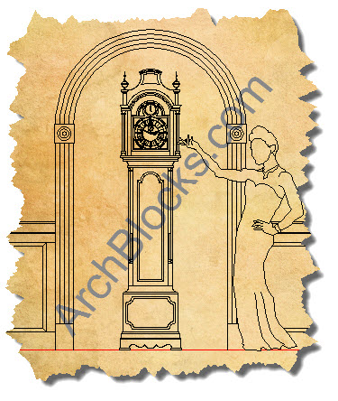 ArchBlocks CAD Clock Drawings-01