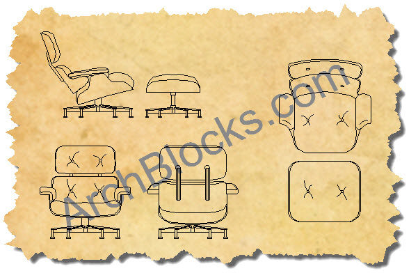 lounge chair 2d cad drawing decorticosis