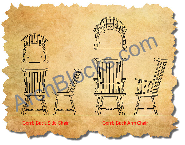 AutoCAD Symbols Windsor Chairs-03