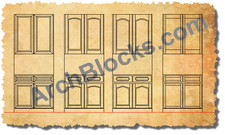 ArchBlocks CAD Cabinet Doors and Hardware