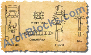 ArchBlocks CAD Exercise Equipment