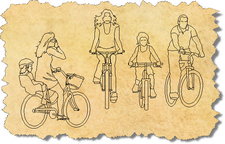AutoCAD Blocks of Bikes and People, CAD Bike Symbols