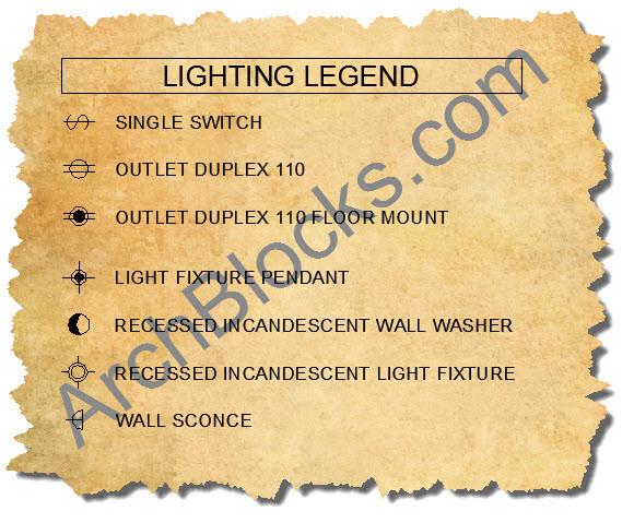 ArchBlocks CAD Lighting Plan Symbols