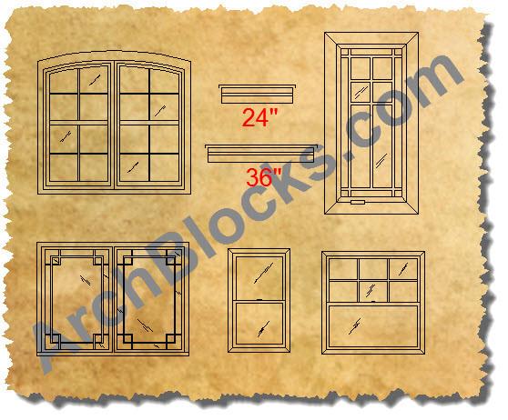 cad window symbols