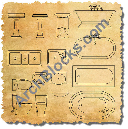 Autocad Plumbing Fixtures Block S Cad Plumbing Symbols Download