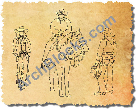 ArchBlocks CAD Cowboys Cowgirls