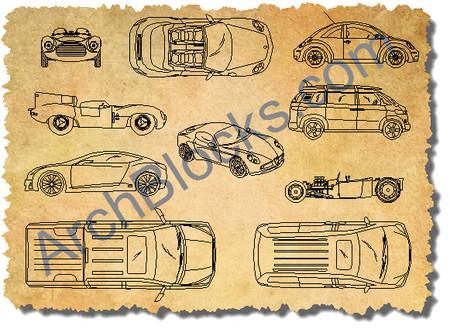 ArchBlocks Cars And Trucks CAD Blocks