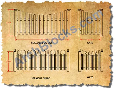 Cad Symbols Fencing Autocad Blocks Fences Fence Design Cad