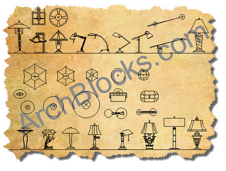 ArchBlocks Lighting Block Library  sc 1 st  ArchBlocks & AutoCAD Lighting Symbols | CAD Lighting Blocks | CAD Light Fixtures