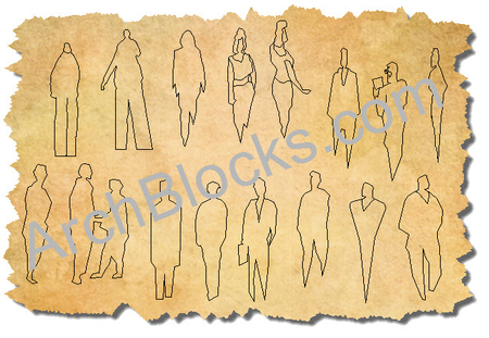 CAD People Blocks - Hand Sketched