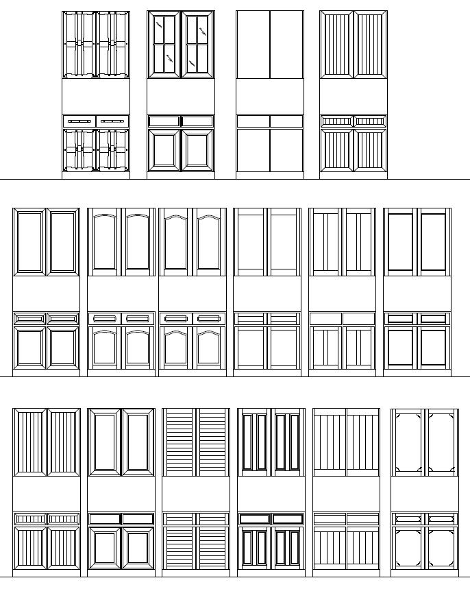 ArchBlocks AutoCAD Cabinet Block Symbols  sc 1 st  ArchBlocks & AutoCAD Doors Blocks Library - Exterior Door AutoCAD Symbol ...