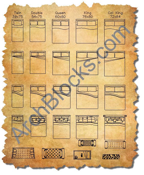 CAD Furniture Blocks AutoCAD Symbols
