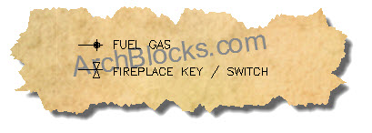 AutoCAD Electrical Symbols Gas Fireplace Blocks