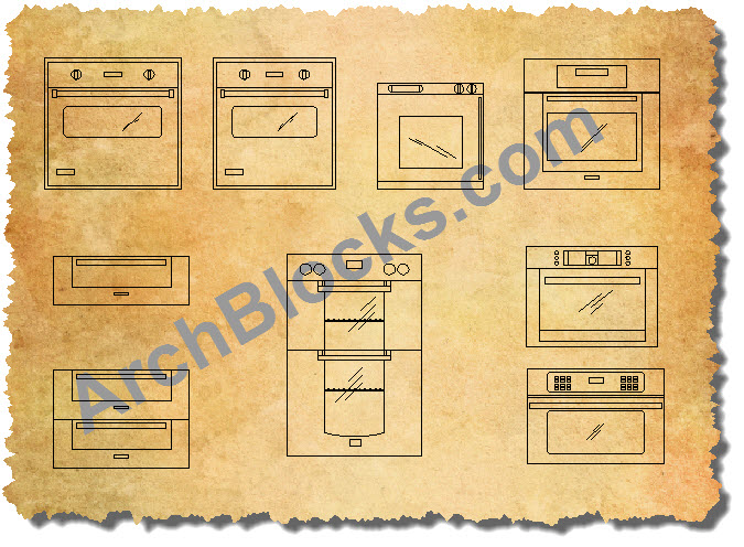 Cad Appliance Blocks Autocad Appliance Symbols Kitchen