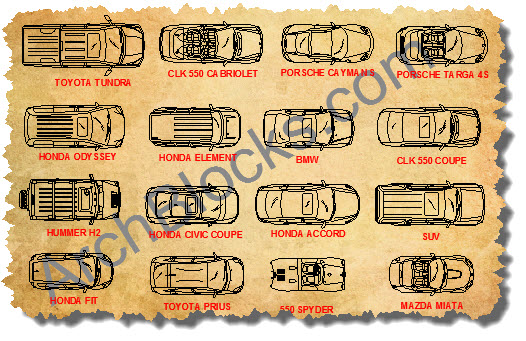 ArchBlocks CAD Symbols Cars Trucks