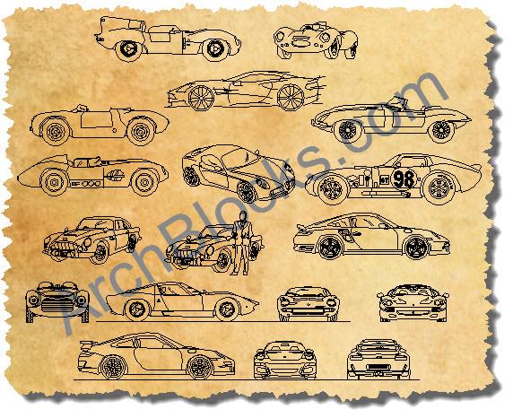 Autocad Blocks Cars Trucks Autocad Vehicle Symbols Cad Block