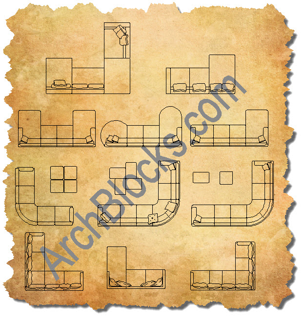 AutoCAD Sectionals Furniture CAD Blocks