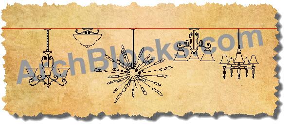 Autocad chandelier symbols mozeypictures Images
