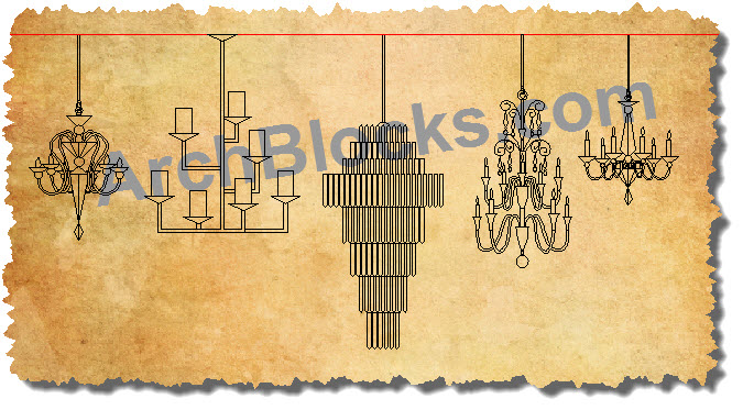 Awesome Modern Chandelier Cad Block Gallery - Chandelier Designs ...