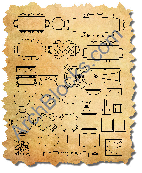 CAD Furniture Blocks AutoCAD Furniture Symbols