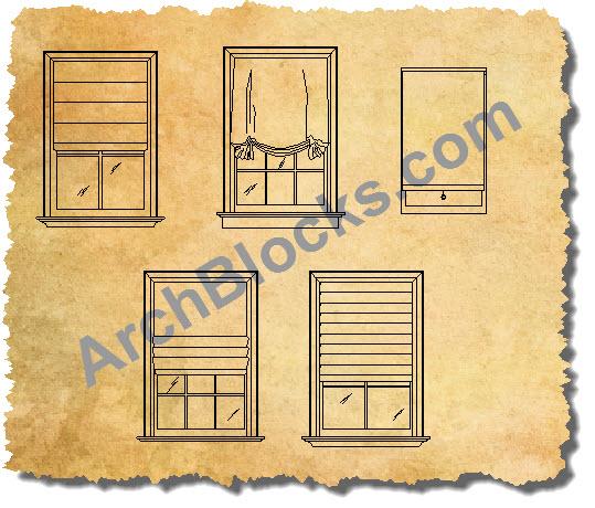 Autocad Window Treatments Blocks
