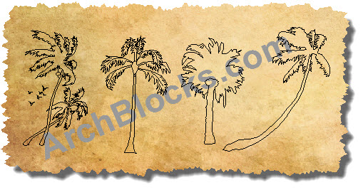 AutoCAD Blocks Palm Trees