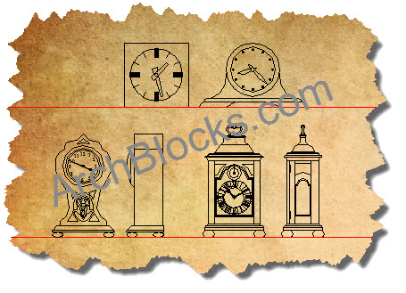 AutoCAD Mantel Clocks Symbols-01