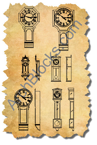 CAD symbols for wall clocks-03