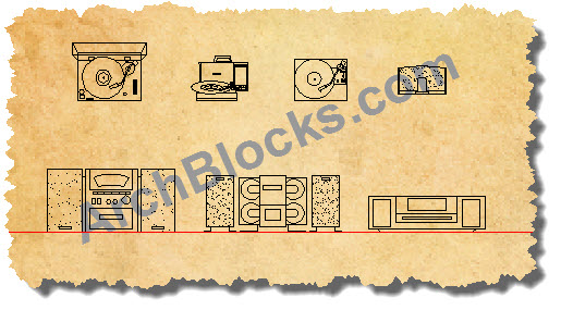 AutoCAD Drawings Blocks Stereo Systems