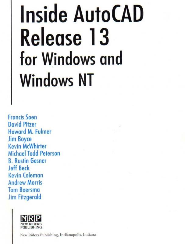 Inside AutoCAD Release 13 Authors