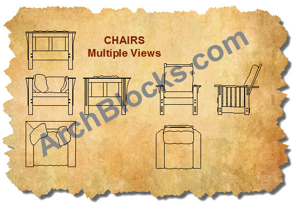 Craftsman Mission Chair CAD Symbols