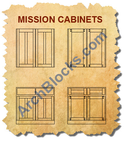 Craftsman Mission CAD Cabinet Door Blocks