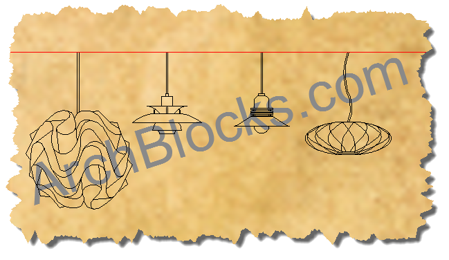 Modern and Mid Century Modern CAD Symbols : ModLighting 03 from www.archblocks.com size 649 x 376 png 158kB